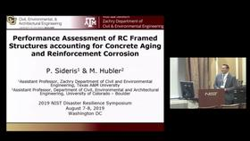 Performance Assessment of RC Framed Structures Accounting for Concrete Aging and Reinforcement Corrosion: 2019 Disaster Resilience Symposium Thumbnail
