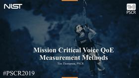 Mission Critical Voice Quality of Experience Measurement Methods Thumbnail