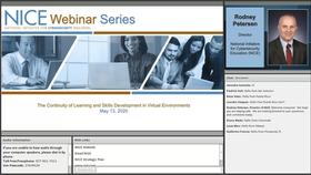 NICE Webinar:  The Continuity of Learning and Skills Development in Virtual Environments